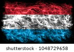 luxembourg smoke flag | Shutterstock . vector #1048729658
