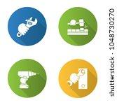 construction tools flat design...   Shutterstock .eps vector #1048730270