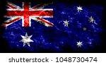 australia smoke flag | Shutterstock . vector #1048730474
