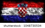 croatia smoke flag | Shutterstock . vector #1048730534