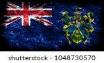 pitcairn islands smoke flag ... | Shutterstock . vector #1048730570