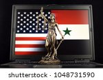 symbol of law and justice with... | Shutterstock . vector #1048731590