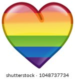 rainbow pride lgbt heart icon... | Shutterstock .eps vector #1048737734