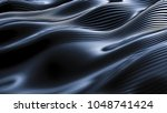 luxurious gray blue drapery... | Shutterstock . vector #1048741424