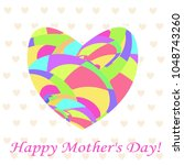 gift card  happy mother's day ... | Shutterstock .eps vector #1048743260
