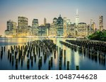 view of nyc by night  usa. | Shutterstock . vector #1048744628