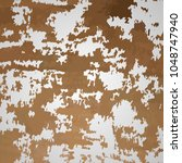 rust on metal. vector rusted... | Shutterstock .eps vector #1048747940