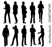 set of business people  vector... | Shutterstock .eps vector #1048748789