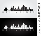 des moines usa skyline and... | Shutterstock .eps vector #1048750214