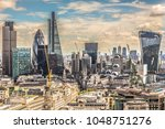 panorama of london from above... | Shutterstock . vector #1048751276