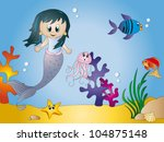 seascape cartoon | Shutterstock . vector #104875148