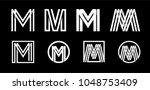 capital letter m. modern set... | Shutterstock .eps vector #1048753409