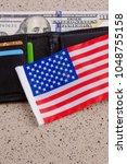one hundred dollars banknote... | Shutterstock . vector #1048755158
