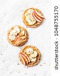 crispy whole grain toast with...   Shutterstock . vector #1048755170