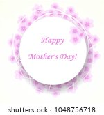 gift card  happy mother's day | Shutterstock .eps vector #1048756718