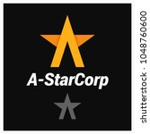 letter a logo. a shaped star on ... | Shutterstock .eps vector #1048760600