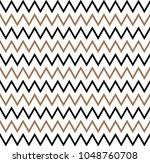 horizontal gold zigzag stripes... | Shutterstock .eps vector #1048760708
