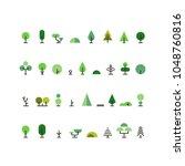 minimalist vector set of green... | Shutterstock .eps vector #1048760816