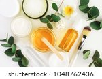 natural cosmetics ingredients... | Shutterstock . vector #1048762436