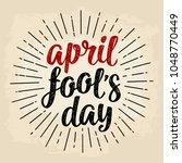 April Fool's Day Calligraphic...