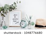 poster framewith tiped text ... | Shutterstock . vector #1048776680