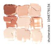 makeup foundation smudges... | Shutterstock . vector #1048778156