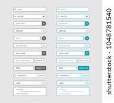 set of search bar design...