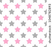 seamless cute vector pattern... | Shutterstock .eps vector #1048782893