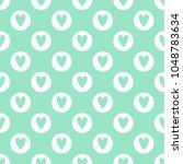 cute seamless vector pattern... | Shutterstock .eps vector #1048783634