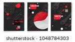 vector new memphis style poster ... | Shutterstock .eps vector #1048784303