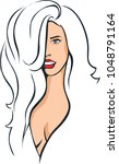 sexy woman femme fatale   pop... | Shutterstock .eps vector #1048791164
