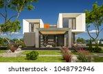 3d rendering of modern cozy... | Shutterstock . vector #1048792946