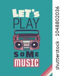 typography slogan with music... | Shutterstock .eps vector #1048802036