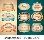 vintage labels | Shutterstock .eps vector #104880278