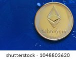 crypto currency ethereum  eth ... | Shutterstock . vector #1048803620