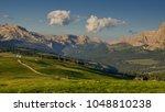 summer eve in alpe di siusi... | Shutterstock . vector #1048810238