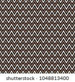 horizontal gold zigzag stripes... | Shutterstock .eps vector #1048813400