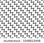 diagonal black and white zigzag ... | Shutterstock .eps vector #1048813448