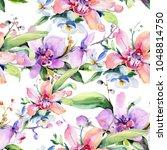bouquet flower pattern in a... | Shutterstock . vector #1048814750