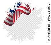 illustration wavy american flag ...   Shutterstock .eps vector #1048814873