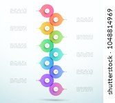 abstract vector 3d stacked 10... | Shutterstock .eps vector #1048814969