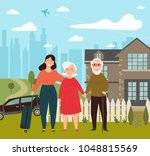 daughter came on her weekend to ... | Shutterstock .eps vector #1048815569
