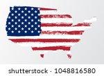 waving flag united states of... | Shutterstock .eps vector #1048816580