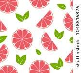 seamless summer pattern with... | Shutterstock .eps vector #1048816826