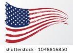 waving flag united states of... | Shutterstock .eps vector #1048816850