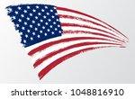 waving flag united states of... | Shutterstock .eps vector #1048816910