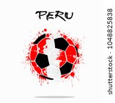 abstract soccer ball painted in ... | Shutterstock .eps vector #1048825838