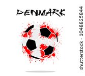 abstract soccer ball painted in ... | Shutterstock .eps vector #1048825844