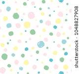 seamless pattern of cute hand... | Shutterstock .eps vector #1048827908