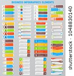 set of business infographics... | Shutterstock .eps vector #1048830140